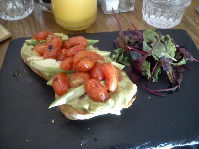 Avocado on toast Whites Deli