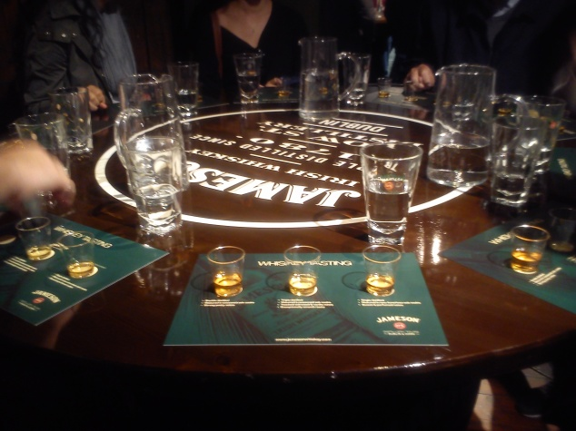 Whiskey tasting at Jameson's Distillery
