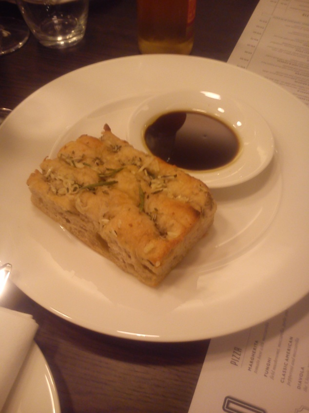 Focaccia at Gusto, Leeds