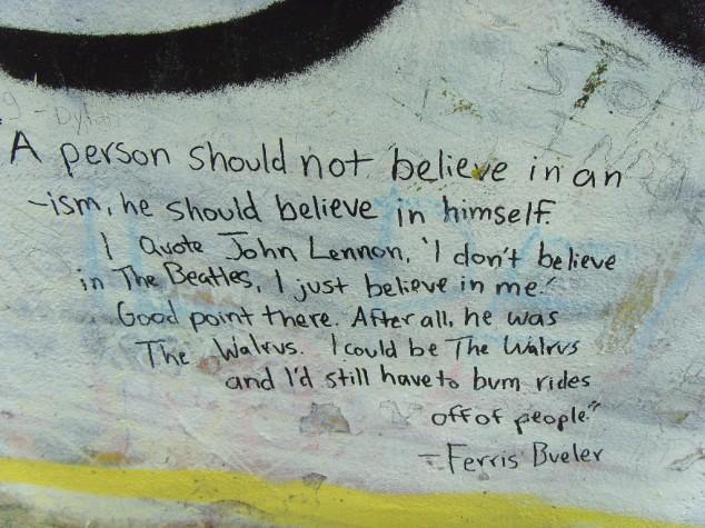 Ferris Bueller quote - lessons fro John Hughes