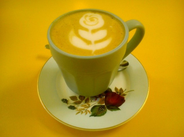Latte at Love Rouge Bakery