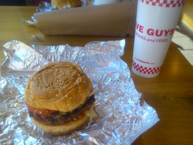 Five Guys burger, Leeds