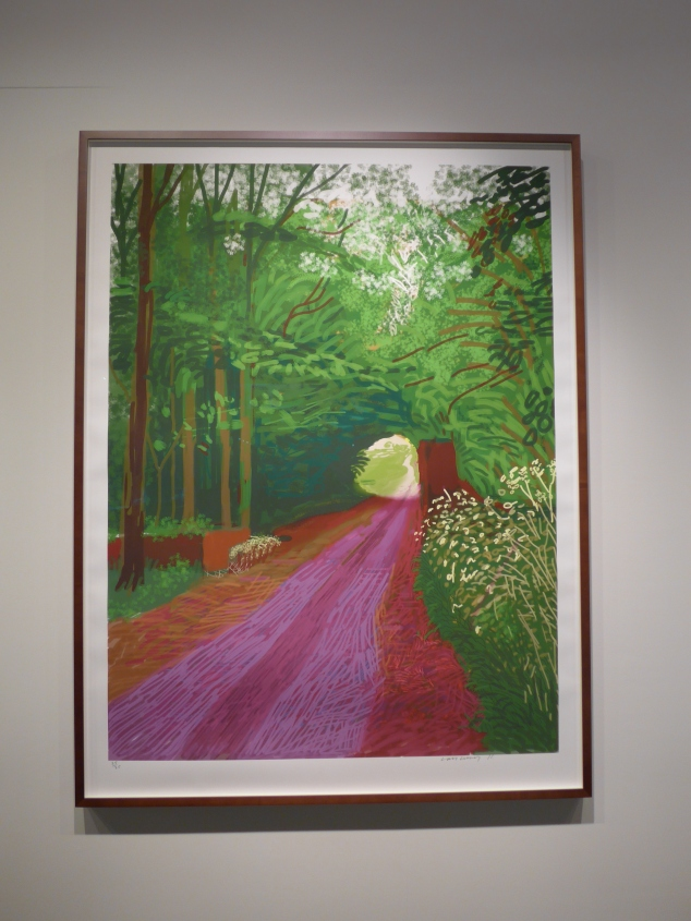 David Hockney's The Arrival of Spring, Salt's Mill