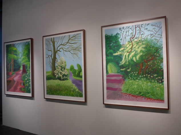 David Hockney's The Arrival of Spring, Salt's Mill