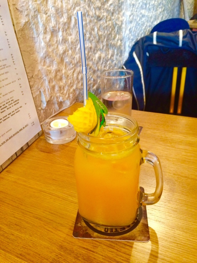 Fresh orange juice at Archie's, Leeds