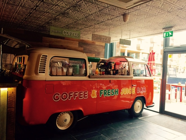 VW camper van at Archie's, Leeds