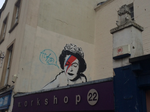 Queen as Ziggy Stardust, Banksy