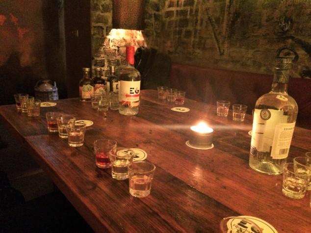 Gin tasting at Edinburgh Gin Distillery