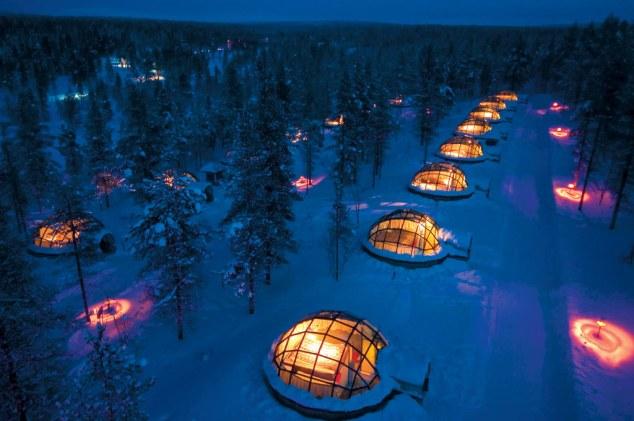 Kakslauttanen Arctic Resort igloos, FInland