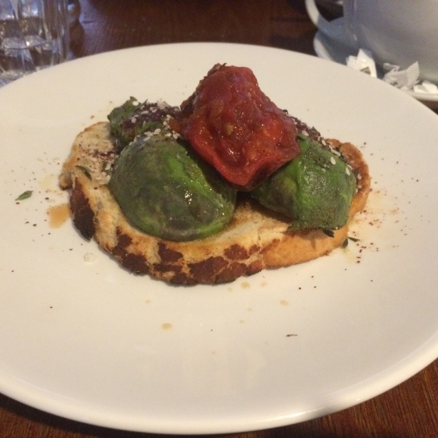 Avocado on toast at Ox Club, Leeds