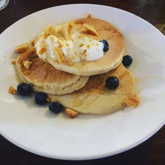 Ricotta pancakes at Ox Club, Leeds
