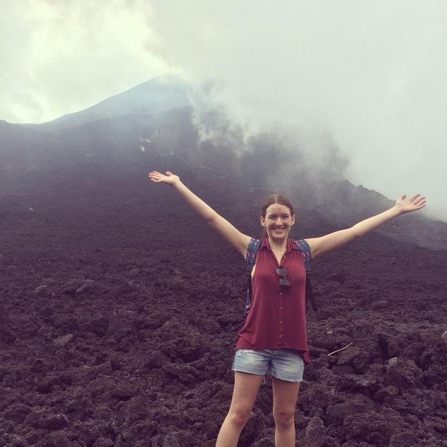Me climbing Pacaya volcano, Guatemala