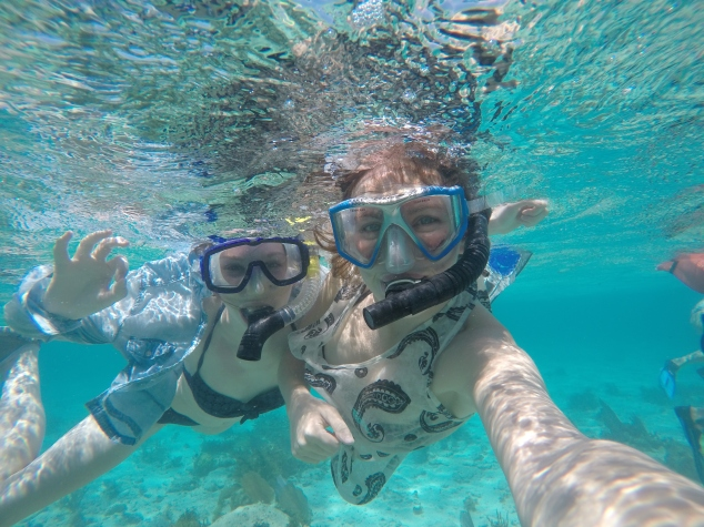 Snorkelling in Hol Chan Marine Reserve, Belize