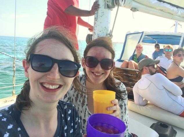 Snorkel boat tour at Hol Chan Marine Reserve, Belize