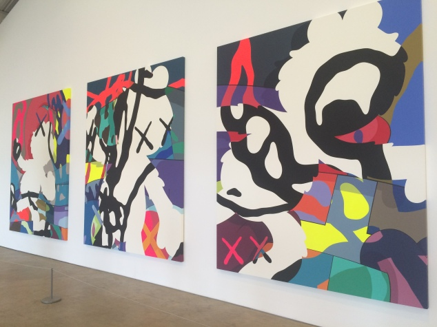 KAWS graphic prints at Yorkshire Sculpture Park