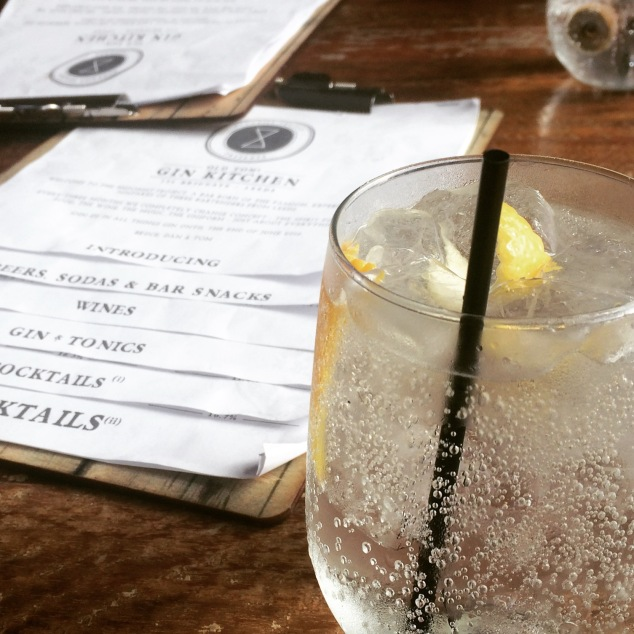 Gin and tonic at Old Tom's Gin Kitchen, Leeds