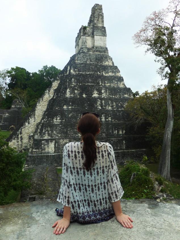 Me at Tikal ruins, Guatemala