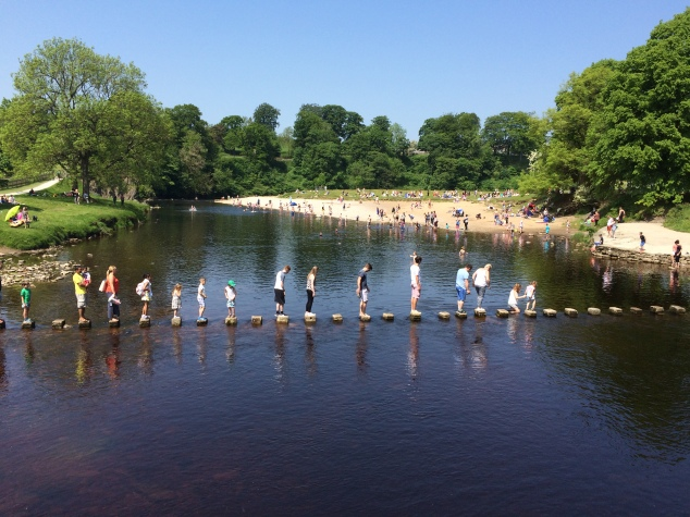 Stepping stones at Bolton Abbey, Yorkshire