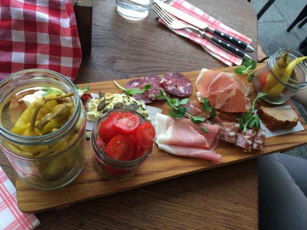 Food at Slovenska Hisa, Ljubljana