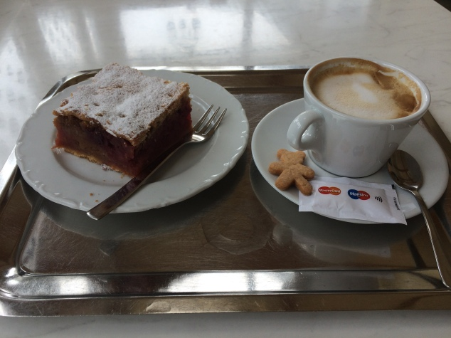 Coffee and cake at Slascicarna Zima, Bled