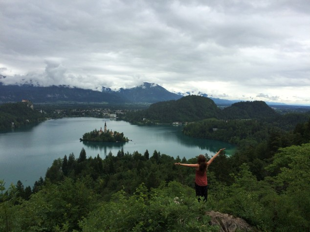 View of Lake Bled from , Slovenia