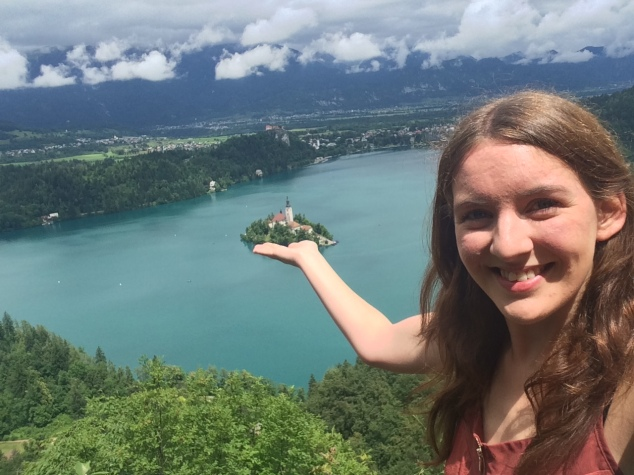 View of Lake Bled from Ojstrica , Slovenia