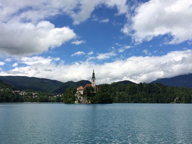 Lake Bled and island, Slovena