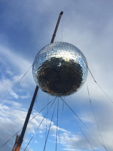Disco ball at Big Disco Leeds