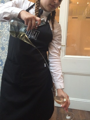 Wine pouring at Iberica Leeds