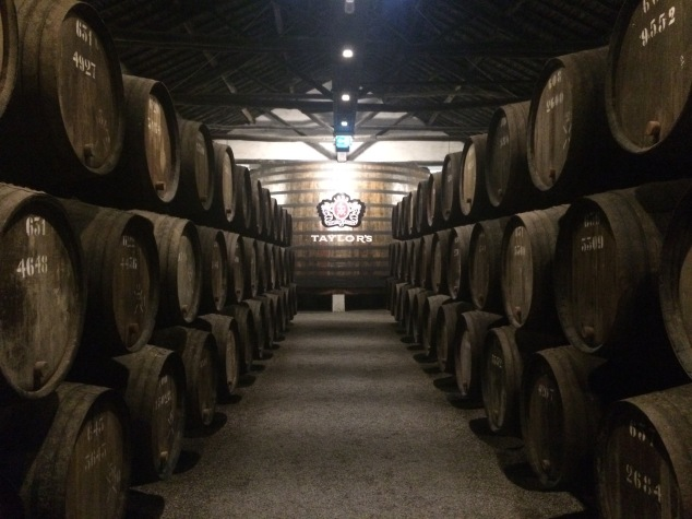 Port barrels at Taylor's port house, Porto