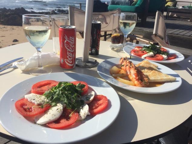 Food at Praia da Luz bar, Foz, Porto