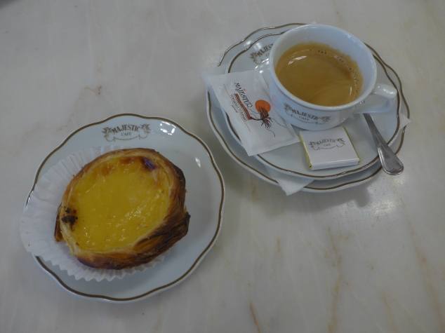 Nata tart at Majestic Cafe, Porto