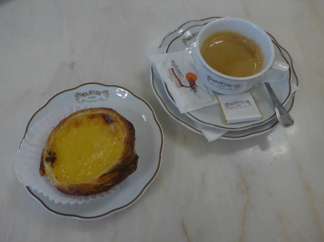 Nata tart at Majestic Cafe, Porto