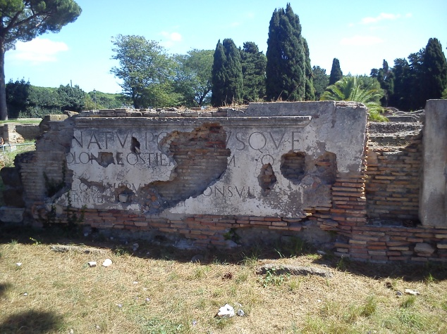 Ruins at Ostia Antica, Rome