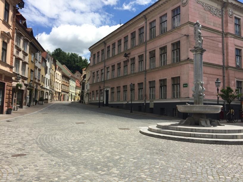Street in Ljubljana, Slovenia