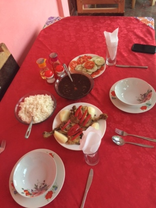 Meal at casa particular in Vinales, CUba