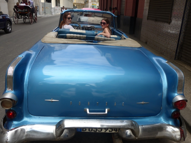 Classic car ride, Havana