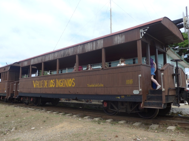 Vintage train in Los Ingenios Valley, Trinidad, CUuba