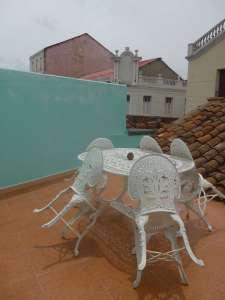 Balcony in casa particular, Camaguey, Cuba