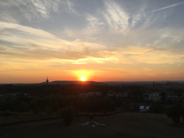 Sunset at Krakus Mound, Krakow