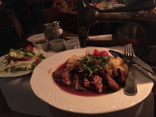 Dinner at Dawno Temu na Kazimierzu, Krakow