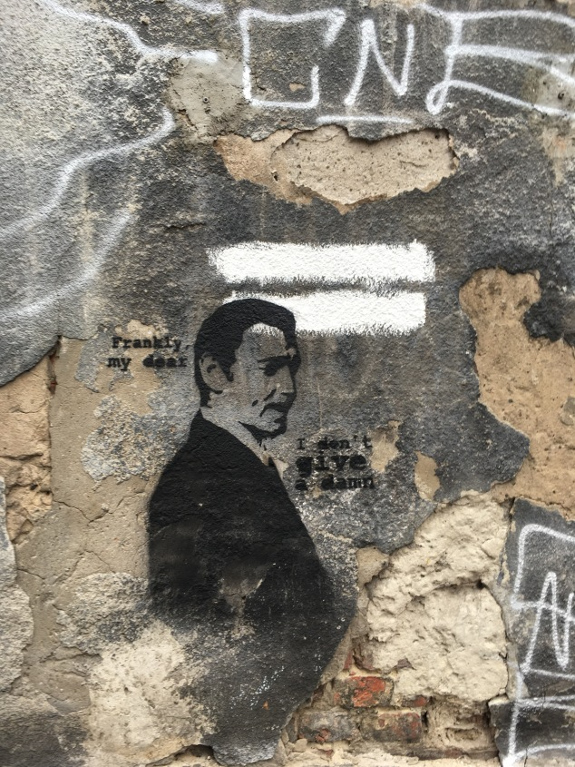 Gone With The Wind stencil, Krakow street art