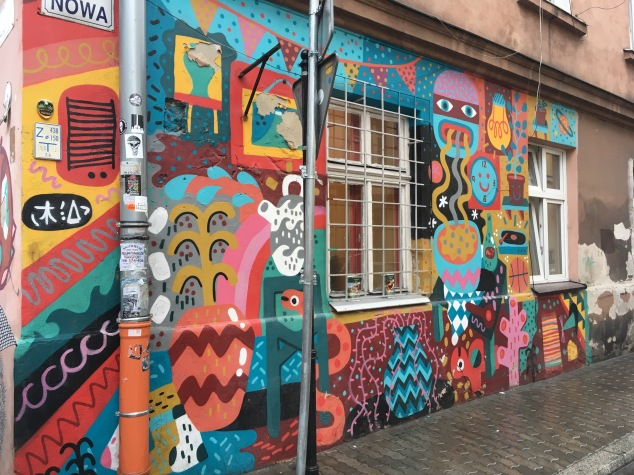 David Shillinglaw street art, Krakow