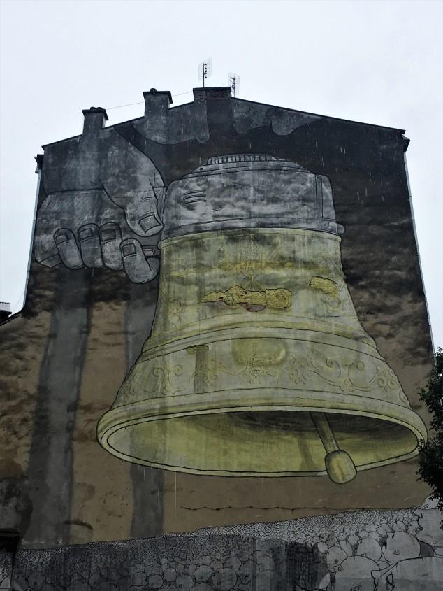 Ding Dong Dumb street art mural, Krakow