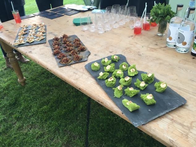 Appetisers at Hidden Harewood