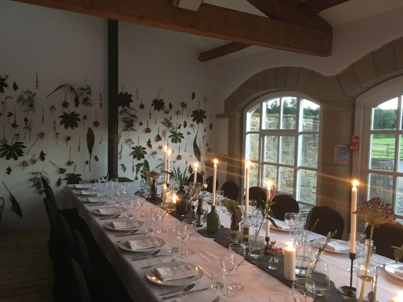 The Hovels dining room at Harewood estate